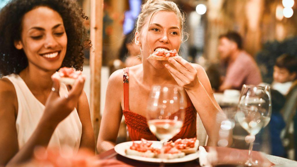 Women enjoying the Holidays!