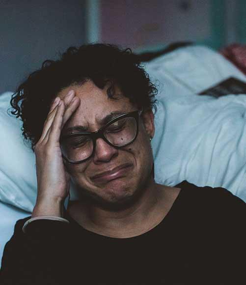 Woman Crying from Emotional Trauma